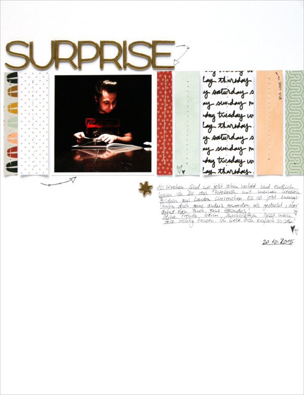 copperandgold.de | ines | scrapbooking layout . surprise