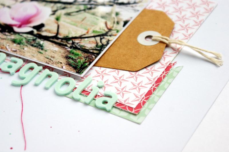 copperandgold.de | ines | scrapbook layout . magnolia
