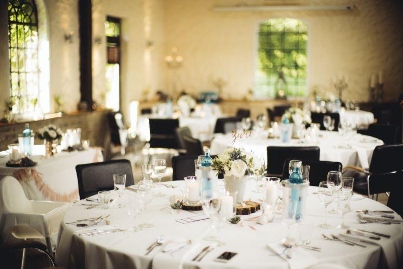 copperandgold.de | ines | wedding decoration . copper and blue