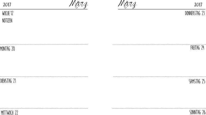 filofax einlagen kalender 2017
